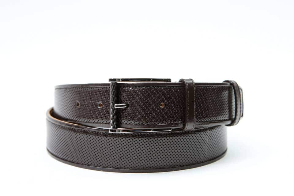 ADAM-BROWN PERFORATED KANGAROO & KANGAROO PIPING-CANGURO FORATO MARRONE & GUARNIZIONI CANGURO MARRONE 01