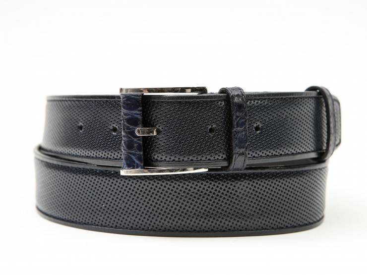 CLYDE-NAVY BLUE PERFORATED KANGAROO- ALLIGATOR & KANGAROO PIPING-CANGURO FORATO- ALLIGATORE & GUARNIZIONI CANGURO BLU 01