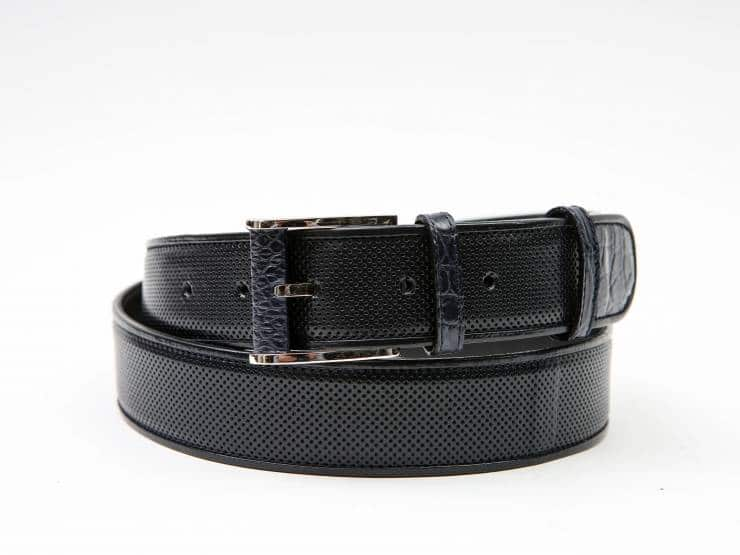 ETHAN-NAVY BLUE PERFORATED KANGAROO- ALLIGATOR & KANGAROO PIPING-CANGURO FORATO- ALLIGATORE & GUARNIZIONI CANGURO BLU 01