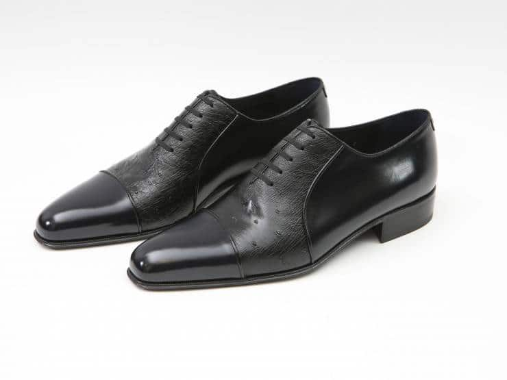 GABRIELE-NAVY BLUE CALF & BLACK OSTRICH-VITELLO BLU & STRUZZO NERO 01